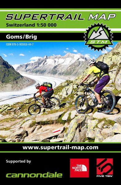 Supertrail Map Goms / Brig Mountainbike-Karte, 1:50.000, Wasser- und reissfest (STM)
