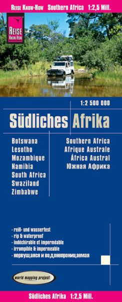 Südliches Afrika Landkarte 1:2.500.000 - Reise Know-How