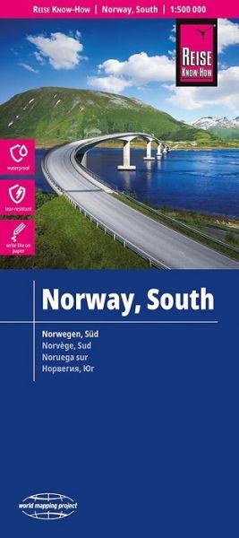 Norwegen Süd Landkarte 1:500.000, Reise Know-How