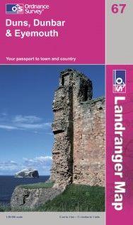 Landranger 67 Duns, Dunbar & Eyemouth Wanderkarte 1:50.000 - OS / Ordnance Survey