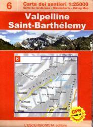 Valpelline, topographische Wanderkarte 1:25.000 L'Escursionista editore Bl.6