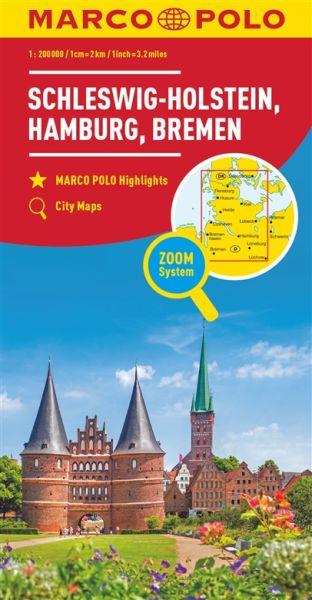 Schleswig-Holstein Straßenkarte 1:200.000, Marco Polo Bl. 01