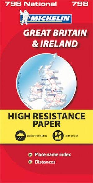 Michelin National 798: Großbritannien und Irland Straßenkarte 1:1.000.000, wetterfest