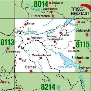 8114 FELDBERG (SCHWARZW.) topographische Karte 1:25.000 Baden-Württemberg, TK25