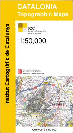 Baix Llobregat, Katalonien topographische Karte, 1:50.000, ICC 11