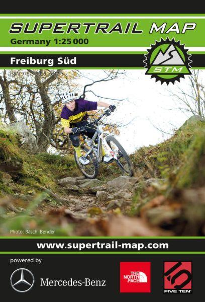 Supertrail Map Freiburg Süd Mountainbike-Karte 1:25.000, Wasser- und reissfest (STM)