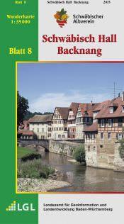 Schwäbisch Hall - Backnang Wanderkarte 1:35.000 Schwäbischer Albverein