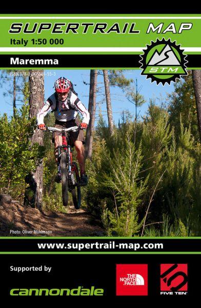 Supertrail Map Maremma Mountainbikekarte, Bikekarte 1:50.000, Wetterfest