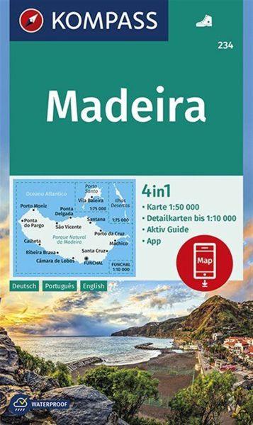 Kompass Karte 234, Madeira 1:50.000, Wandern, Rad