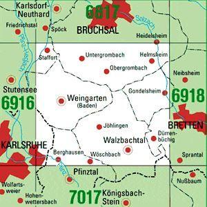 6917 WEINGARTEN (BADEN) topographische Karte 1:25.000 Baden-Württemberg, TK25