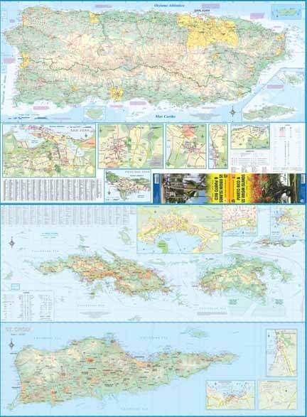 Puerto Rico Landkarte 1:190.000, ITM