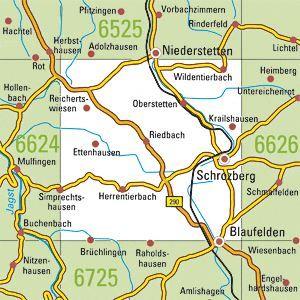 6625 SCHROZBERG WEST topographische Karte 1:25.000 Baden-Württemberg, TK25