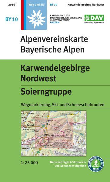 Alpenvereinskarte BY10 Karwendelgebirge Nordwest Wanderkarte 1:25.000