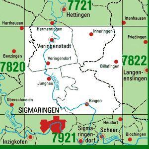 7821 VERINGENSTADT topographische Karte 1:25.000 Baden-Württemberg, TK25