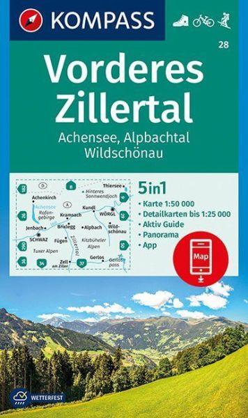 Kompass Karte 28 Vorderes Zillertal Wanderkarte Radkarte