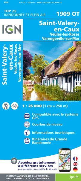 IGN 1909 OT St-Valery-en-Caux, Frankreich Wanderkarte 1:25.000