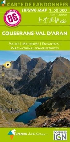 Rando Blatt 6, Couserans, Wanderkarte Pyrenäen 1:50.000