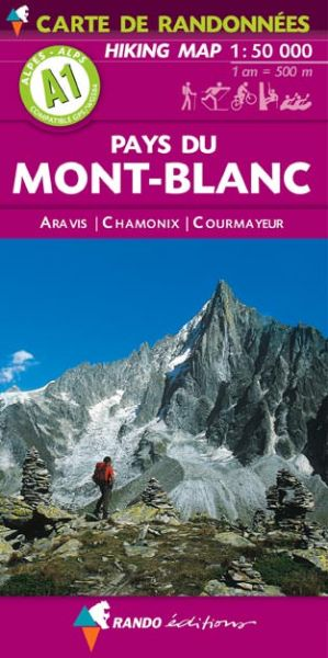 Rando Blatt A1, Pays du Mont-Blanc Wanderkarte 1:50.000