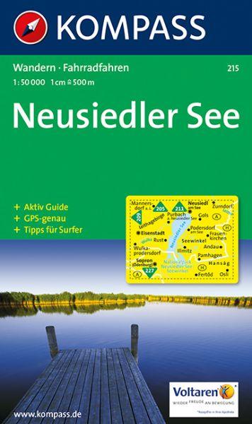 Kompass Karte 215, Neusiedler See 1:50.000, Wandern, Rad fahren