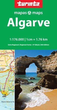 Portugal Regionale Straßenkarte SR5: Algarve 1:176.000, Turinta Mapas