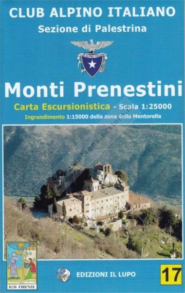 Wanderkarte für Monti Prenestini - Mentorella 1:25.000 - Il Lupo Nr. 17