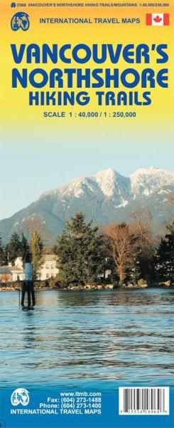 Vancouvers Nordküsten Wanderwege; Wanderkarte, ITM