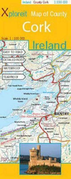 Map of County: Cork, Irland topographische Karte 1:100.000, Xploreit Maps