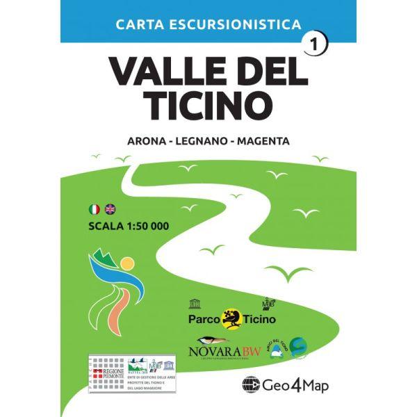 Valle del Ticino Arona, Legnano, Magenta, 1:50.000, Geo4Map Bl. 1