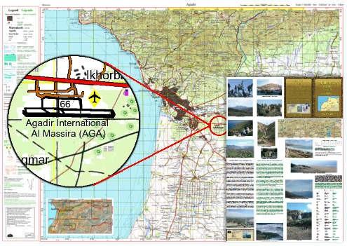 Agadir 1:160.000, topografische Karte, EWP