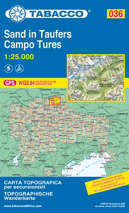 Tabacco 036 Campo Tures / Sand in Taufers Wanderkarte 1:25.000