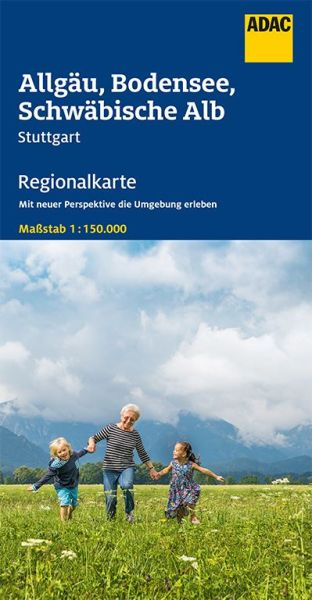 Bl. 15 Allgäu, Bodensee, Schwäbische Alb Regionalkarte 1:150.000, ADAC Straßenkarte