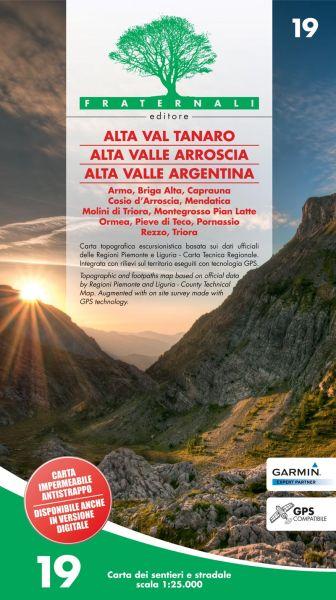 Alta Val Tanaro Wanderkarte 1:25.000 Fraternali 19