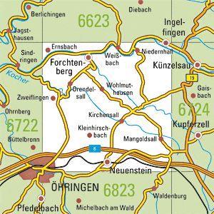 6723 ÖHRINGEN topographische Karte 1:25.000 Baden-Württemberg, TK25