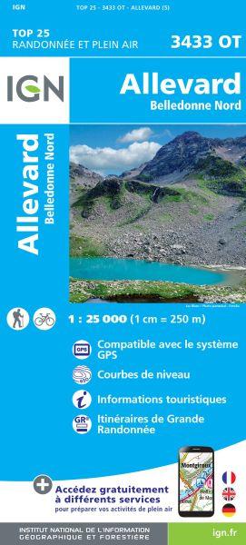 IGN 3433 OT Allevard, Belledonne Nord, Frankreich Wanderkarte 1:25.000