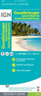 Guadeloupe Straßenkarte 1:80.000, IGN
