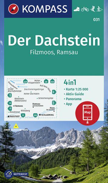 Dachstein Karte.Kompass Karte 031 Der Dachstein 1 25 000 Wandern Rad Fahren
