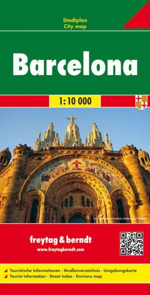 Barcelona, Stadtplan 1:10.000, Freytag und Berndt