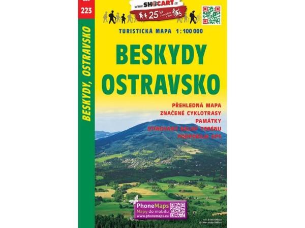 Beskiden-Ostrau Freizeitkarte 1:100.000 - SHOCart 223