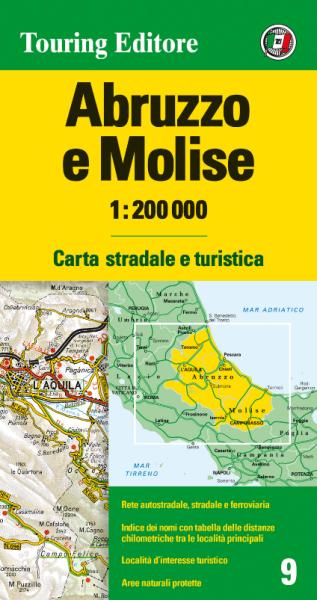 Abruzzen und Molise Straßenkarte 1:200.000, TCI 9