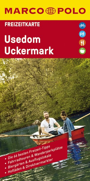 Usedom, Uckermark 1:100.000 Freizeitkarte 09, Marco Polo
