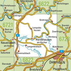6722 HARDTHAUSEN A.K. topographische Karte 1:25.000 Baden-Württemberg, TK25
