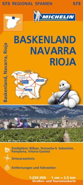Michelin regional 573 Baskenland, Navarra, Rioja; Straßenkarte