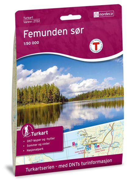Norwegen topographische Wanderkarte Femunden Süd 1:50.000, Turkart 2722