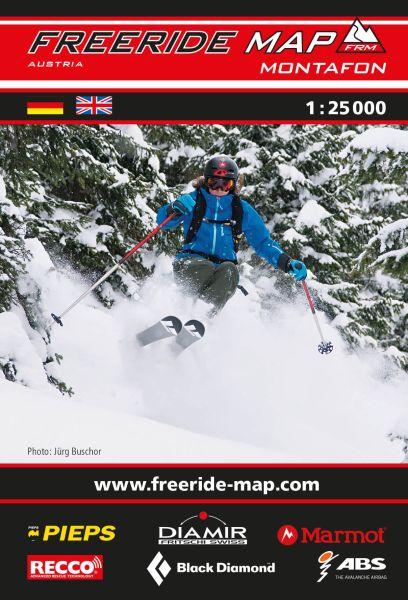 Freeride Map Montafon, Skitourenkarte 1:25.000