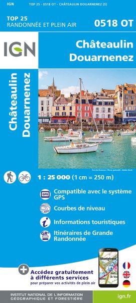 IGN 0518 OT Chateulin, Douarnenez, Frankreich Wanderkarte 1:25.000