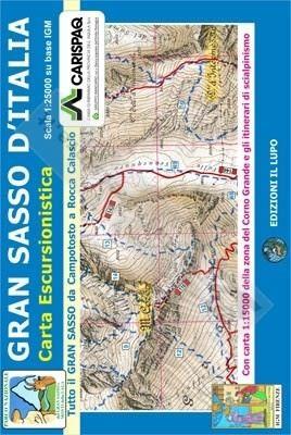 Wanderkarte für Gran Sasso d'Italia Ski- und 1:25.000 - Il Lupo Nr. 3