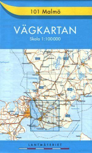 Schweden topographische Karte: Vägkarta 101 Malmö 1:100.000