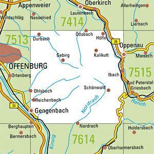 7514 GENGENBACH topographische Karte 1:25.000 Baden-Württemberg, TK25