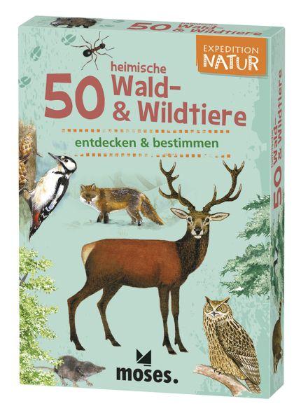 50 heimische Wald- und Wildtiere entdecken und bestimmen, Moses Verlag