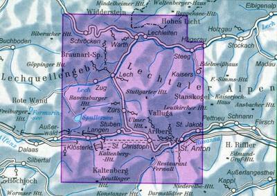 DAV Alpenvereinskarte 3/2 Lechtaler Alpen, Arlberggebiet, Ski- und Wanderkarte 1:25.000